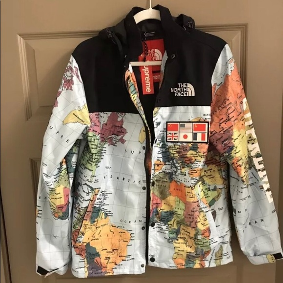 1e7c778c0 The North Face x Supreme Expedition (Maps) Jacket NWT